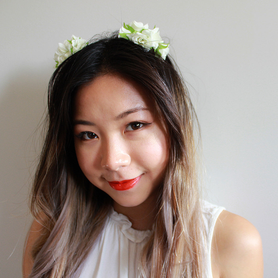cute flower crown mini flower crown fake flower crown silk flower crown floral headband cute flower crown