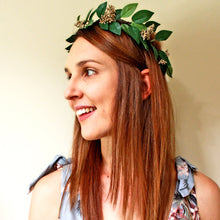green flower crown boho flower crown fake flower crown artificial crown hens night accessories dainty crown bridal shower headpiece