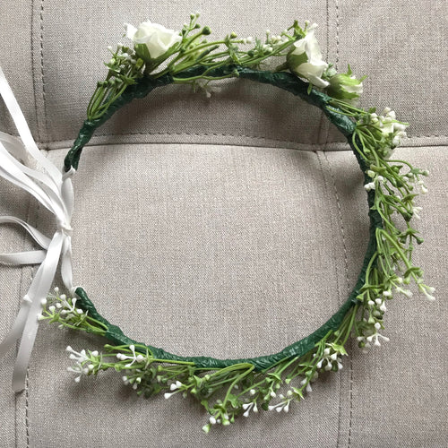 dainty flower crown, silk flower crown perth, greenery flower crown, artificial flower crown australia, perth flower crown, melbourne flower crown, brisbane flower crown, delicate flower crown
