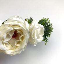 white silk flower crown, hens night flower crown, wedding headpiece, hens night headpiece, white flower crown