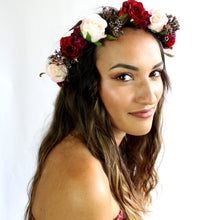 silk flower crown perth, purple pink flower crown, spanish flower crown, flower crown perth, silk flower crown, flower crown melbourne, sydney, hens night accessories perth, wedding flower crown perth, wedding hairpiece