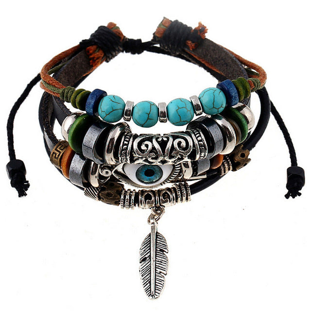Bracelet Indian Feather
