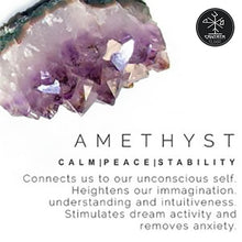 relaxant: Amethyst Crystal, Stone promotes Calm, Peace, Stability. Connects us to our unconscious self. Heightens our imagination. Understanding and intuitiveness. Stimulates dream activity and removes anxiety.