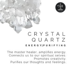Uplift: Clear Quartz Crystal Stone promotes Energy, Purification. The master healer stone. Amplifies energy. Connects us to our spiritual selves. Promotes creativity. Purifies our thoughts and feelings. Crystal Lotion, Candles, Soap & Cream