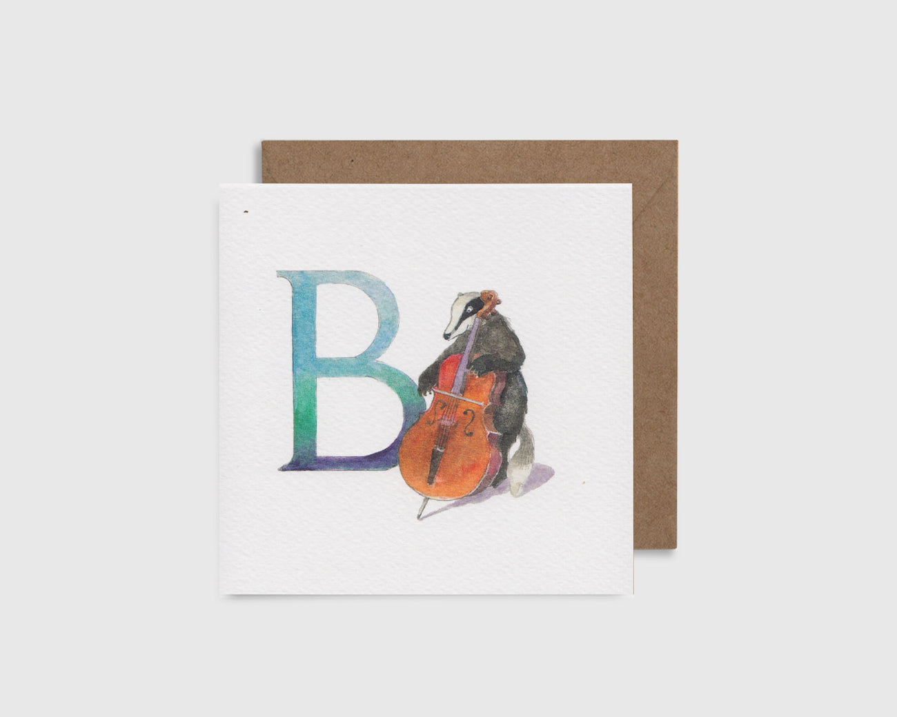 B is for Badger - B comme Blaireau