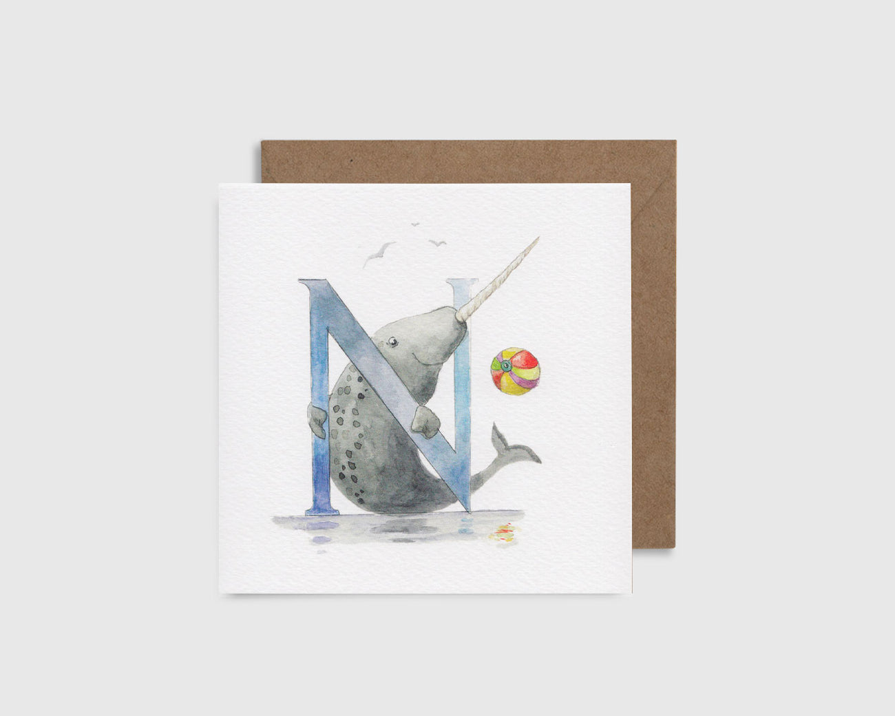 N is for Narwhal - N comme Narval