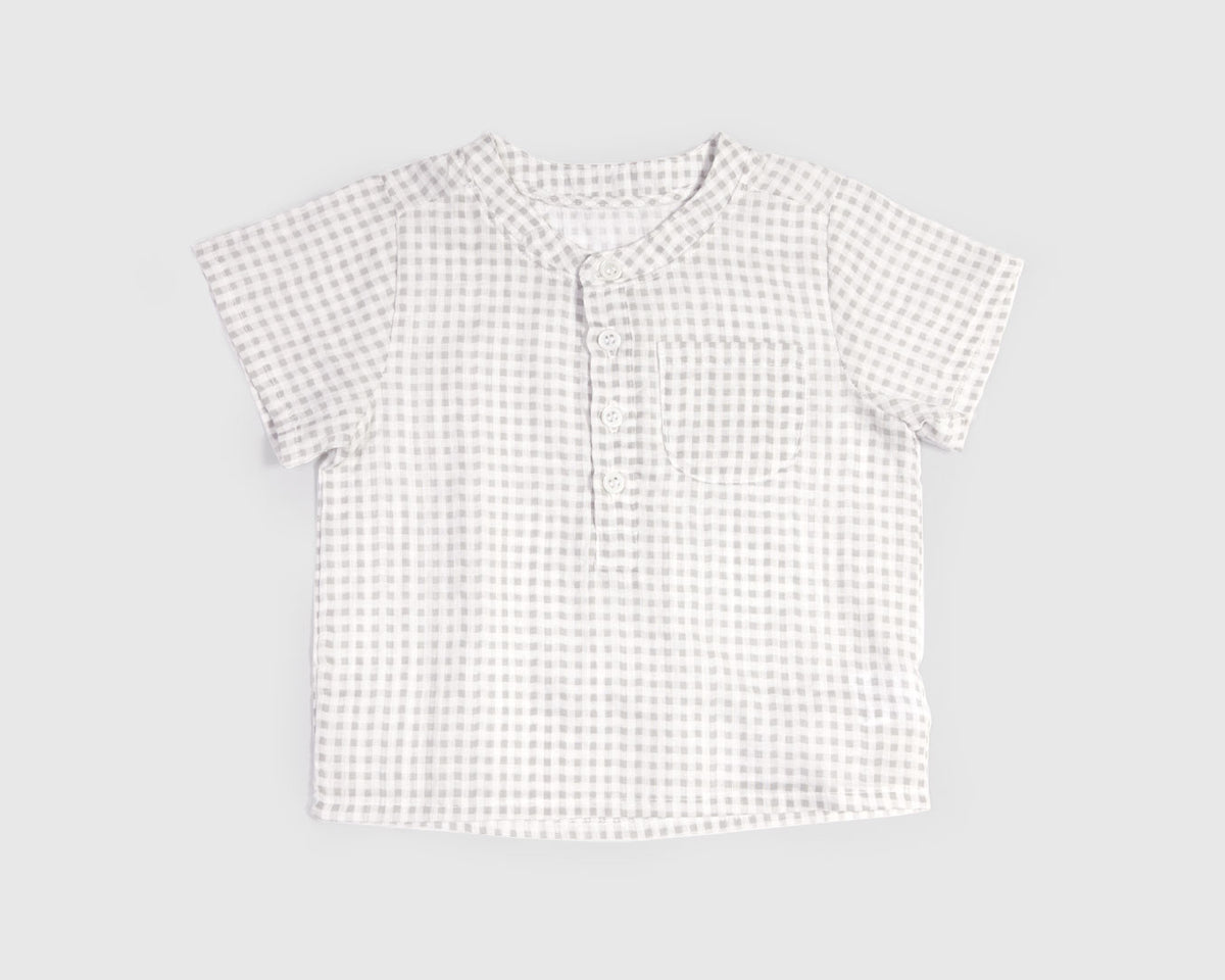 Delvin Checker Button-Up Shirt