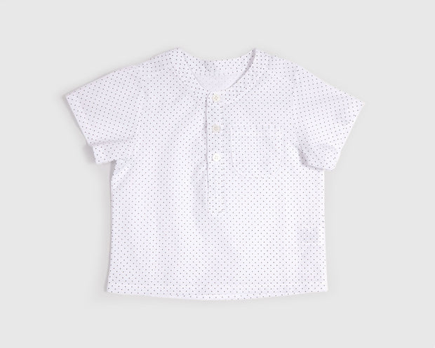 Delvin Polkadot Button-Up Shirt