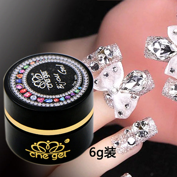 6G Che gel nail art rhinestone gel glue use for nail tips decoration ...