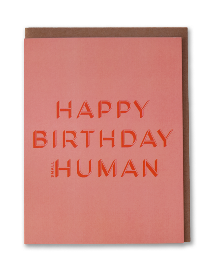 Small Human Modern Birthday Cards By Bold Ink Studios