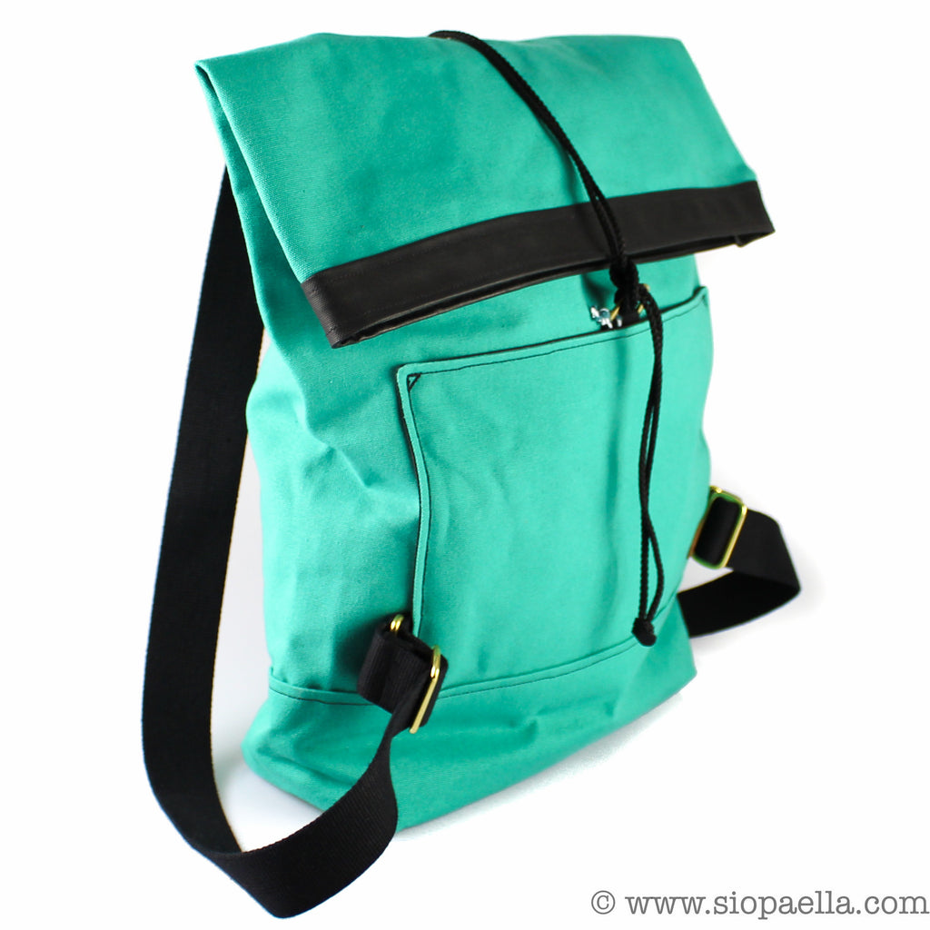 Atlantic Equipment Sea Green Canvas Roll Top Backpack