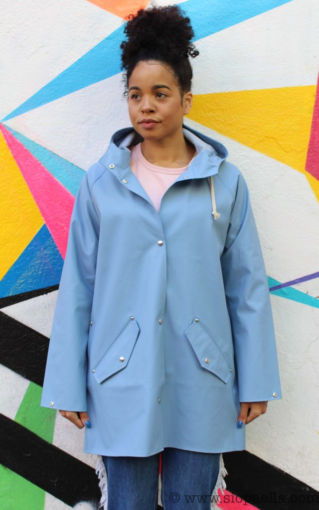 Elka Saeby Faded Denim Rain Jacket