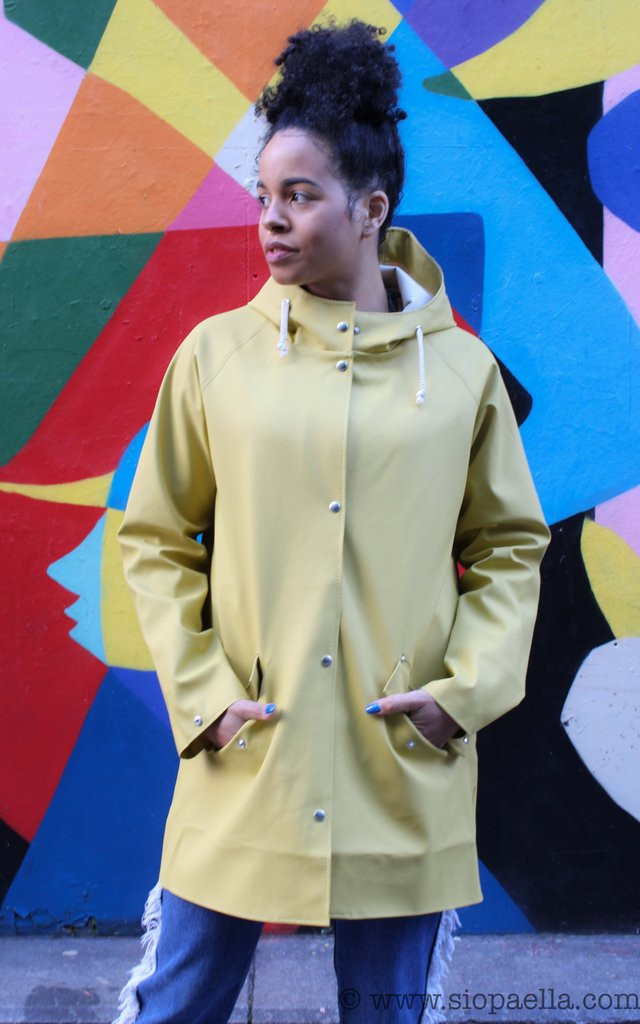 Elka Saeby Oil Yellow Rain Jacket
