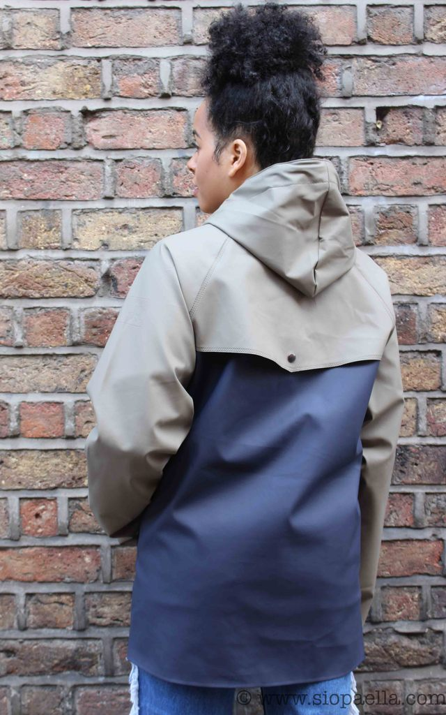 Elka Tisvilde Navy & Dusty Green Rain Jacket