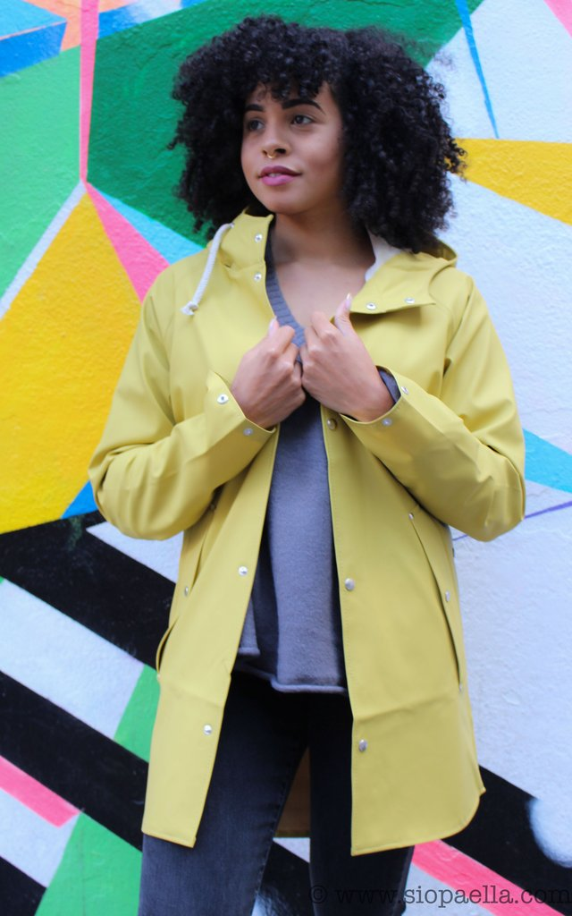 Elka Sønderby Oil Yellow Rain Jacket