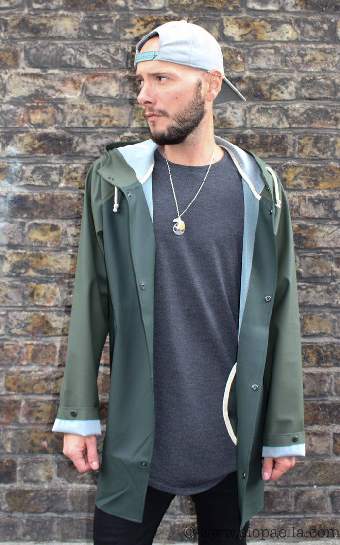 Elka Sønderby Racing Green & Olive Rain Jacket