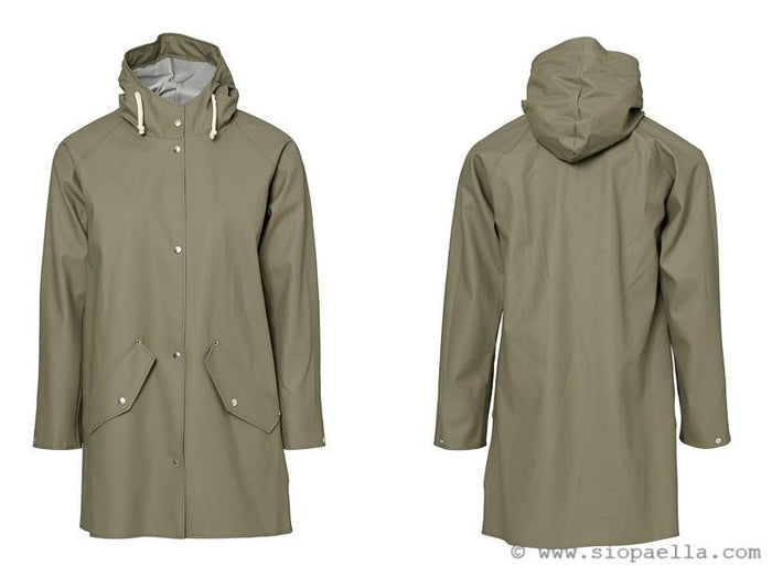 Elka Saeby Dusty Green Rain Jacket