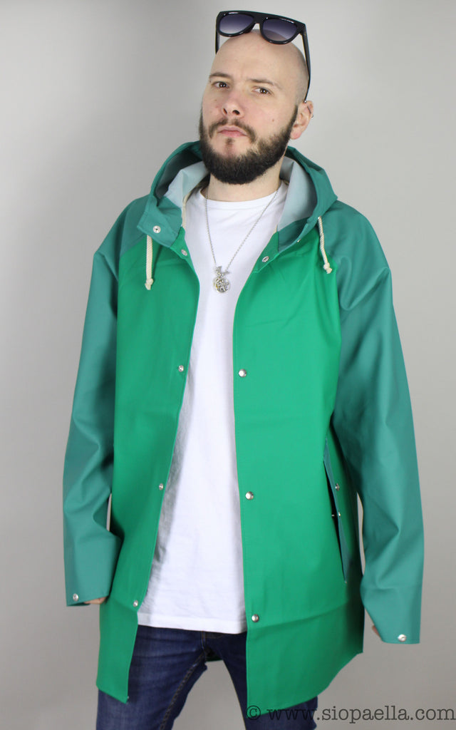 Elka Sønderby Bright Green / Green Woods Rain Jacket