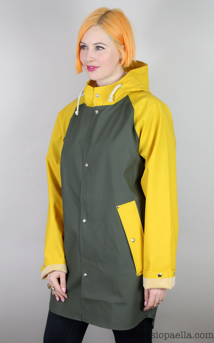 Elka Sønderby  Green / Mustard Yellow Rain Jacket