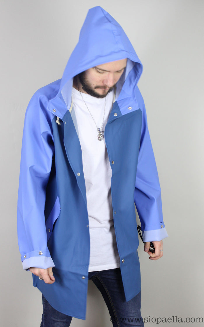 Elka Sønderby Stellar Blue / Carrier Blue Rain Jacket