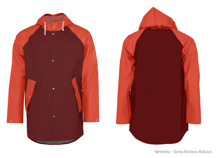 Elka Sønderby Orange & Bordeaux Red Rain Jacket