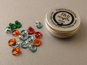 ringOs Mini Breakfast at Tiffany's - Snag-Free Ring Stitch Markers for Sock Knitting