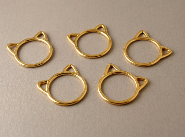 Simple Solid Snag-Free Jumbo Cat Ring Stitch Markers for Knitting