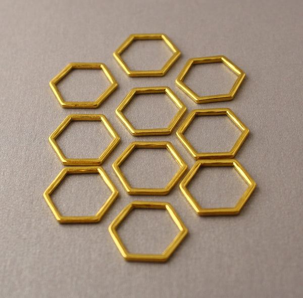 Simple Solid Snag-Free Honeycomb Ring Stitch Markers for Knitting