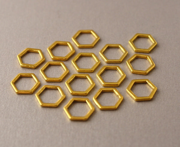 Simple Solid Snag-Free Mini Honeycomb Ring Stitch Markers for Knitting