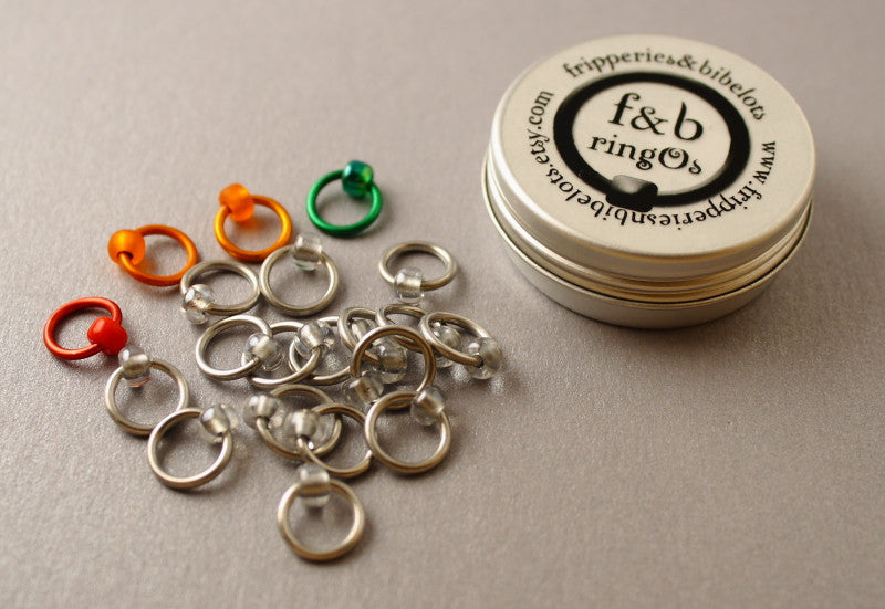 ringOs Traffic Light Lace - Silver - Snag-Free Ring Stitch Markers for Knitting