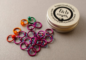 ringOs Traffic Light Lace - Violet - Snag-Free Ring Stitch Markers for Knitting