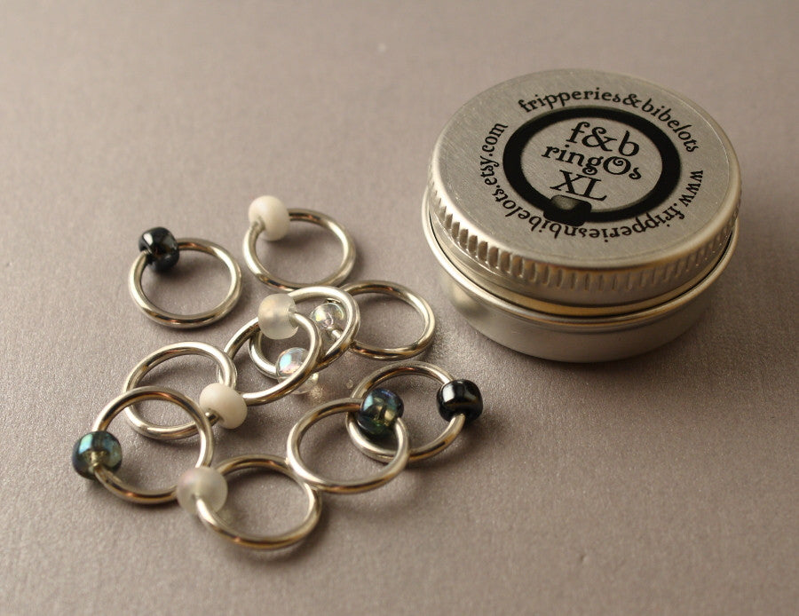 ringOs XL Apparition - Snag-Free Ring Stitch Markers for Knitting