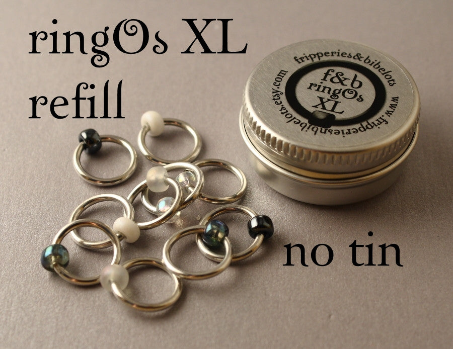 ringOs XL REFILL - Apparition - Snag-Free Ring Stitch Markers for Knitting