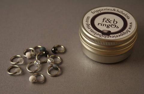 ringOs Apparition ~ Snag Free Ring Stitch Markers for Knitting