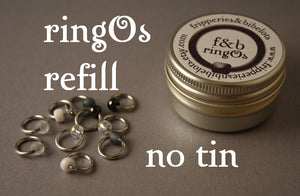 ringOs REFILL ~ Apparition ~ Snag Free Ring Stitch Markers for Knitting