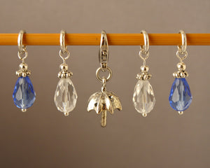 April Showers Stitch Markers for Knitting