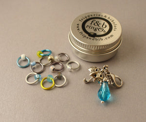 ringOs April Showers ~ LIMITED EDITION Snag Free Ring Stitch Markers for Knitting