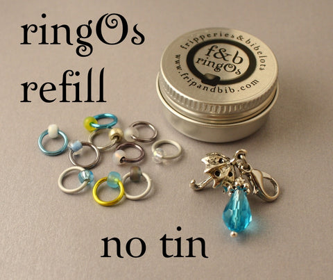 ringOs REFILL ~ April Showers ~ LIMITED EDITION Snag Free Ring Stitch Markers for Knitting