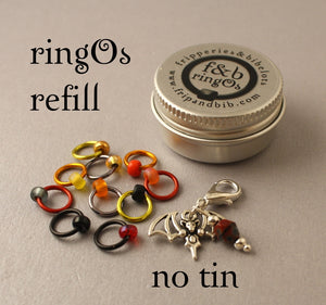 ringOs REFILL ~ Bat Out of Hell LIMITED EDITION ~ Snag Free Ring Stitch Markers for Knitting