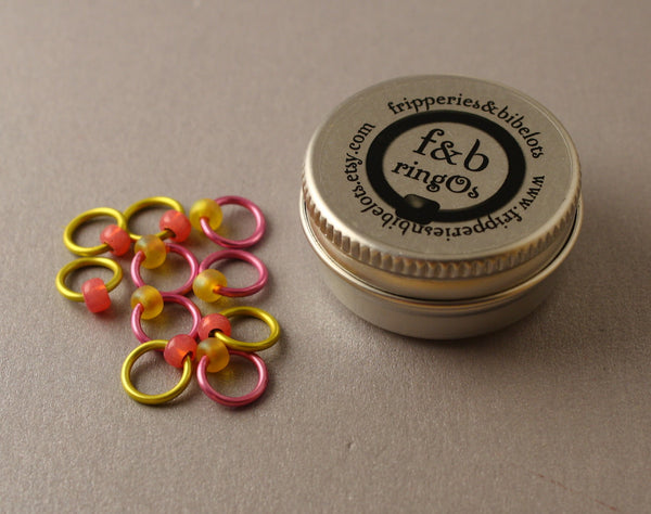 ringOs Battenburg ~ Snag Free Ring Stitch Markers for Knitting