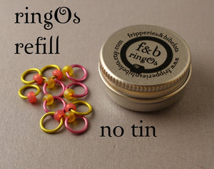 ringOs REFILL ~ Battenburg ~ Snag Free Ring Stitch Markers for Knitting