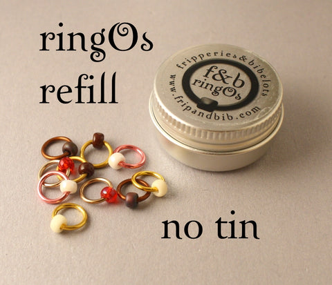 ringOs REFILL Biscuit Jar ~ Snag Free Ring Stitch Markers for Knitting