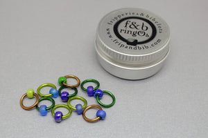 ringOs Bluebell Walk~ LIMITED EDITION Snag Free Ring Stitch Markers for Knitting