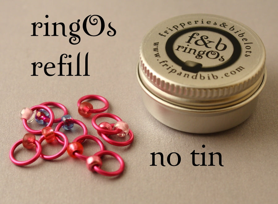 ringOs REFILL ~ Boys Wink ~ Snag Free Ring Stitch Markers for Knitting