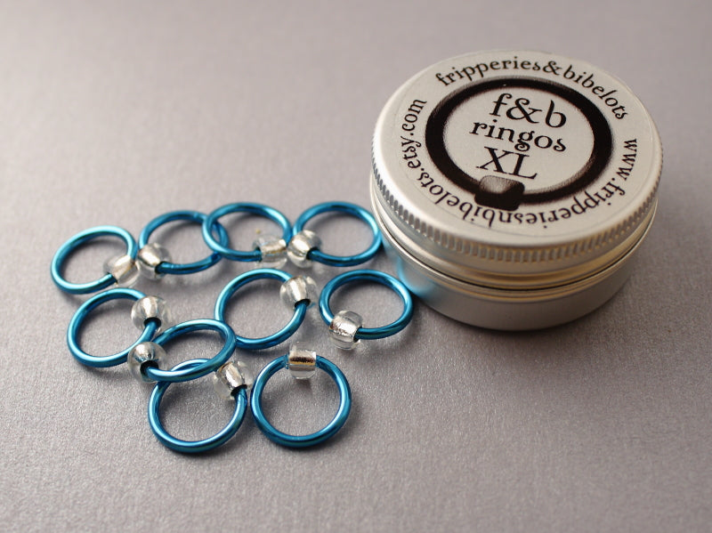 ringOs XL Breakfast at Tiffany's - Snag-Free Ring Stitch Markers for Knitting