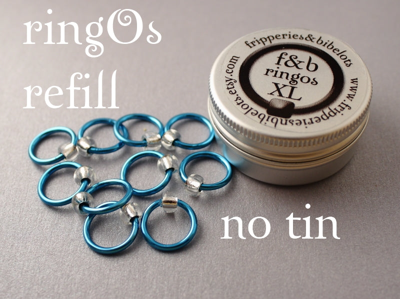 ringOs XL REFILL - Breakfast at Tiffany's - Snag-Free Ring Stitch Markers for Knitting