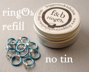 ringOs REFILL ~ Breakfast at Tiffany's ~ Snag Free Ring Stitch Markers for Knitting