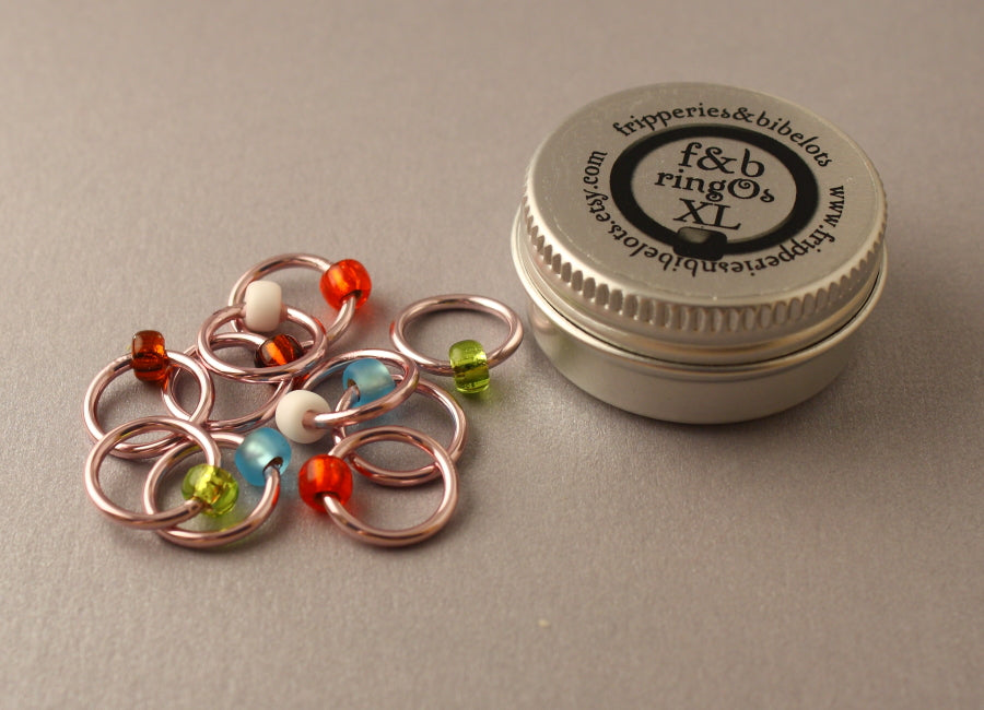 ringOs XL Cherry Blossom - Snag-Free Ring Stitch Markers for Knitting
