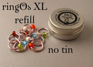 ringOs XL REFILL - Cherry Blossom - Snag-Free Ring Stitch Markers for Knitting