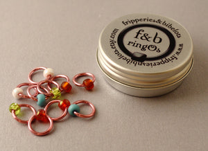 ringOs Cherry Blossom ~ Snag Free Ring Stitch Markers for Knitting